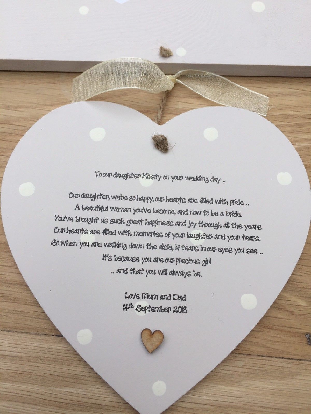 Shabby Personalised Gift Chic Gift For Daughter On Her Wedding Day